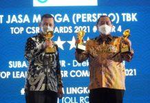 Terapkan Creating Shared Value, Jasa Marga Raih Tiga Penghargaan Dalam Ajang TOP CSR Awards 2021